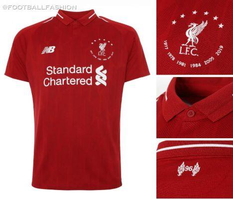 Liverpool FC 2019 2020 6 Times New Balance Football Kit, Soccer Jersey, Shirt, Camiseta, Camisa, Maillot, Trikot