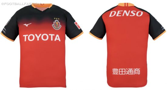 Nagoya Grampus 2020 Mizuno Home Football Kit, Soccer Jersey, Shirt