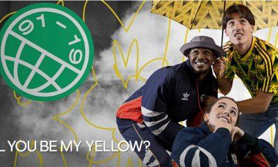 Reissue: Arsenal 1991 - 1993 'Bruised Banana' Yellow adidas Away Football Kit, Soccer Jersey, Shirt, Maillot, Camiseta, Camisa, Trikot