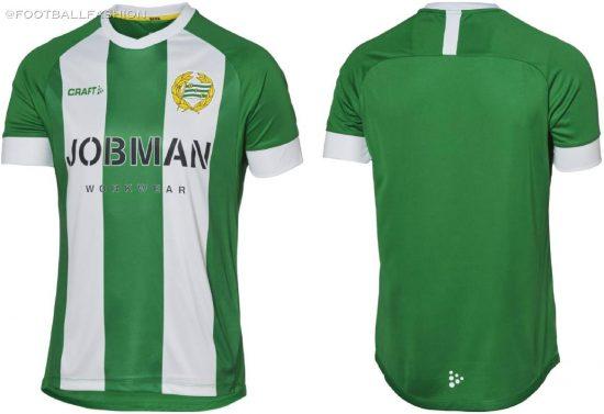 Hammarby 2020 Craft Home Football Kit, Soccer Jersey, Shirt, Matchtröja