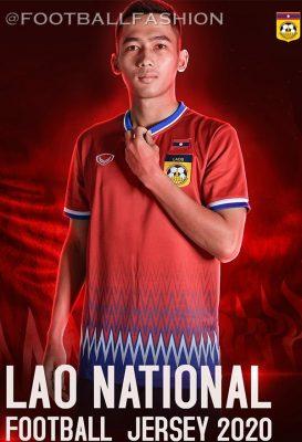 Laos 2020 Grand Sport Home and Away Football Kit, Soccer Jersey, Shirt