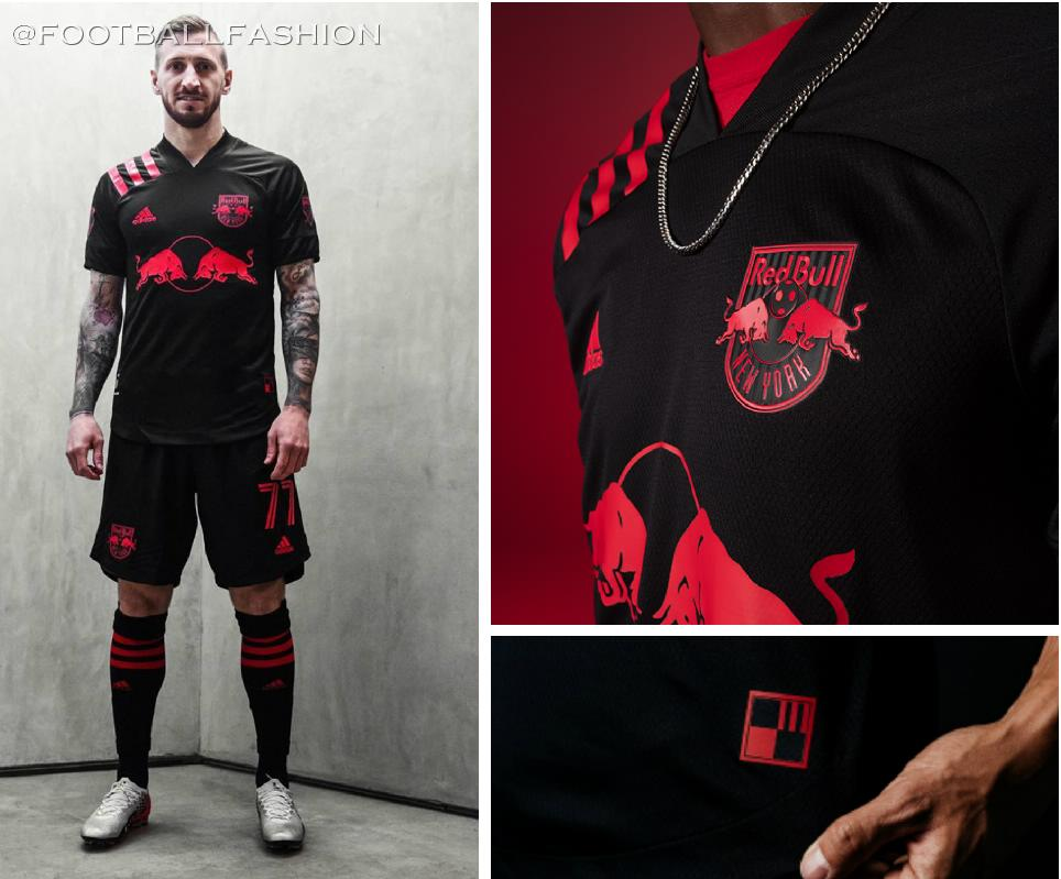 New York Red Bulls 2020 'Dark Mode' adidas Away Kit - FOOTBALL FASHION