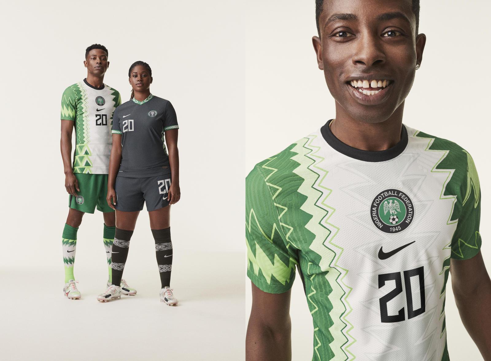 Nigeria 2020 2021 Nike Home and Away Football Kit, Soccer Jersey, Shirt