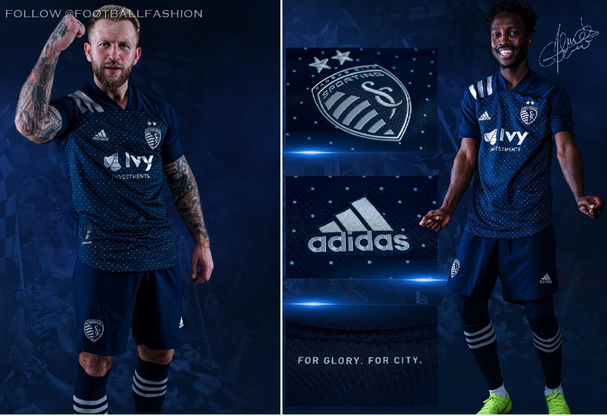 Sporting Kansas City 2020 adidas Away Football Kit, Soccer Jersey, Shirt, Camiseta de Futbol MLS