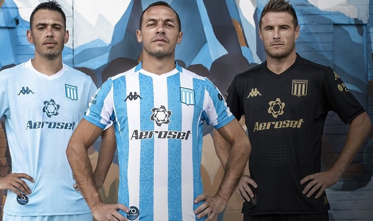 Racing Club 2020 2021 Kappa Football Kit, Soccer Jersey, Shirt, Camiseta de Futbol