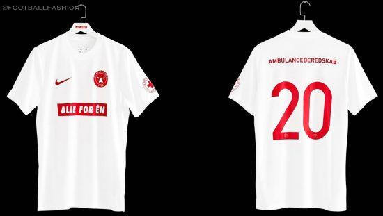 FC Midtjylland 2020 ' ALLE FOR ÉN' Nike Football Kit, Soccer Jersey, Shirt, Trøje