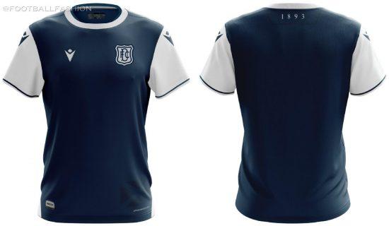 Dundee FC 2020 2021 Macron Home Football Kit, Soccer Jersey, Shirt