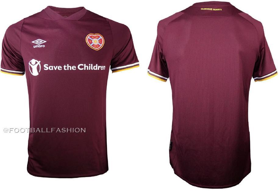 Heart Of Midlothian 2020 21 Umbro Home Kit Football Fashion