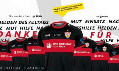 VfB Stuttgart 2020 Jako 'DANKE' Soccer Jersey, Football Kit, Shirt, Sondertrikot, Danke Trikot