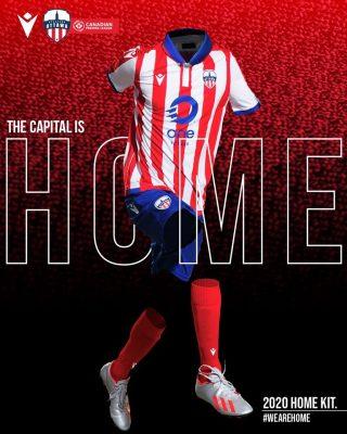Atlético Ottawa 2020 Macron Home Football Kit, Soccer Jersey, Shirt, Maillot