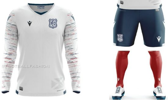 Dundee Football Club 2020 2021 Macron Away Football Kit, Soccer Jersey, Shirt