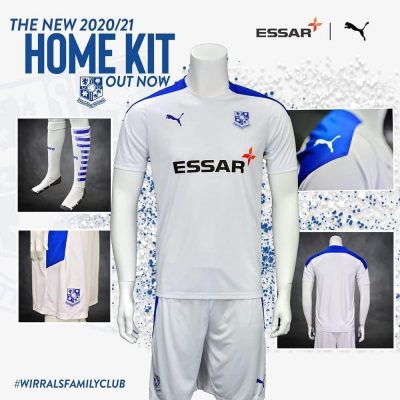 Tranmere Rovers 2020 2021 PUMA Home Football Kit, Soccer Jersey, Shirt