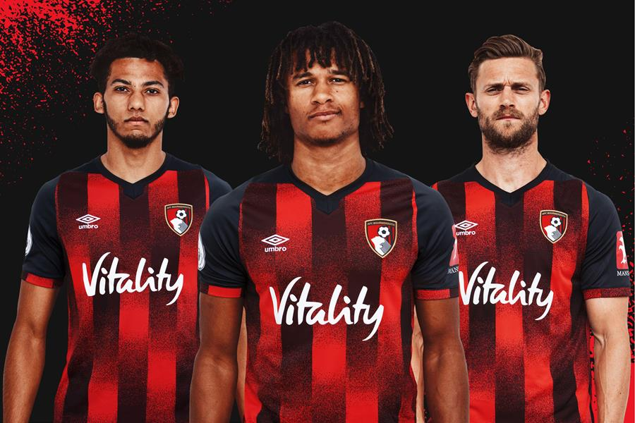 AFC Bournemouth 2020 2021 Umbro Home Football Kit, Soccer Jersey, Shirt