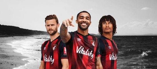 AFC Bournemouth 2020 2021 Umbro Home Football Kit, Soccer Jersey, Shirt