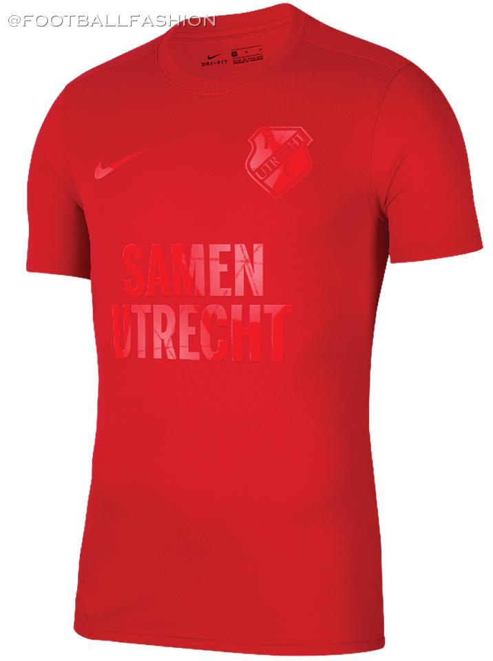 FC Utrecht 2020 'Samen' Nike Soccer Jersey, Football Kit, Shirt, Tenue