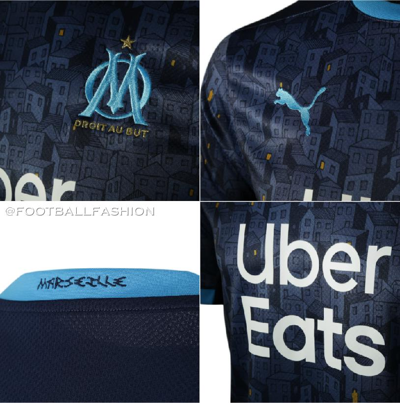 Olympique Marseille 2020 2021 PUMA Home and Away Kit, Soccer Jersey, Shirt, Maillot