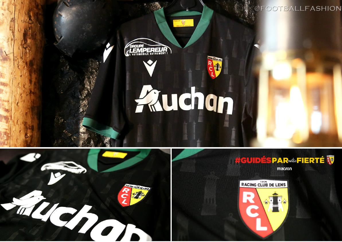 RC Lens 2020 2021 Macron Away Football Kit, 2020/21 Soccer Jersey, 2020-21 Shirt, Maillot