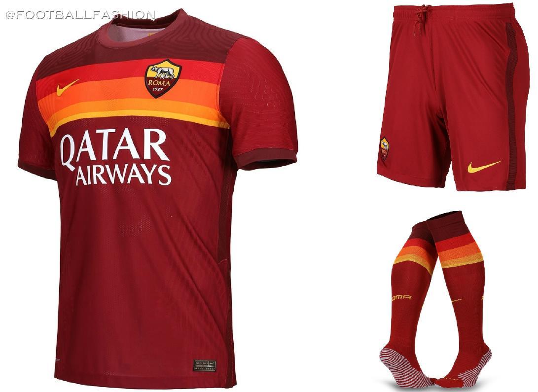 AS Roma 2020/21 Nike Home Kit - FOOTBALL FASHION