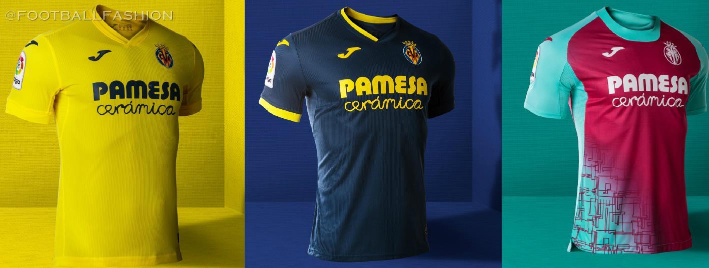 Villarreal CF 2020/21 Joma Home, Away and Third Kits - FOOTBALL ...