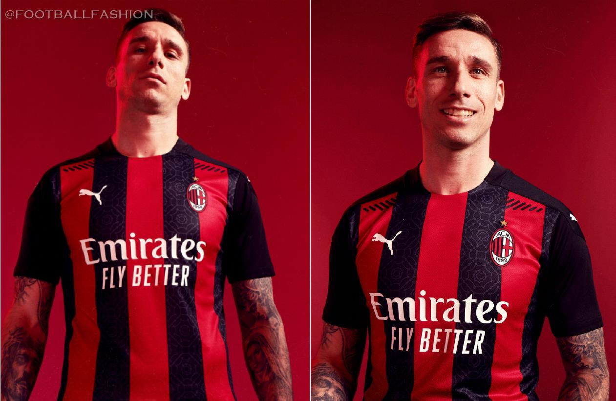 Ac Milan 2020 21 Puma Home Kit Football Fashion Org