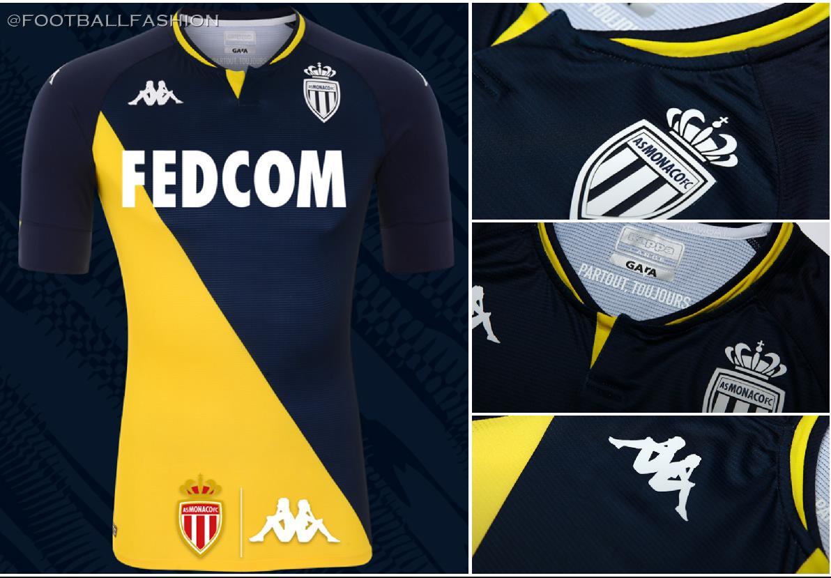 AS Monaco 2020/21 Kappa Away Kit - FOOTBALL FASHION