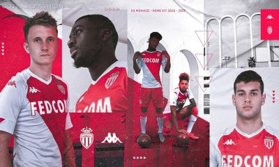 AS Monaco 2020/21 Kappa Home Kit, 2020 2021 Soccer Jersey, Football Shirt, Maillot