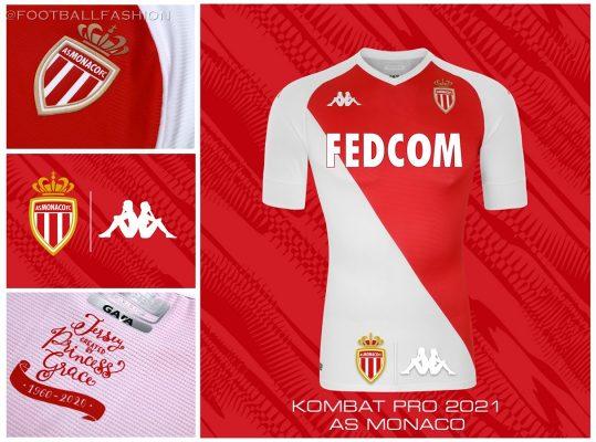 AS Monaco 2020/21 Kappa Home Kit, 2020 2021 Soccer Jersey, Football Shirt, Maillot