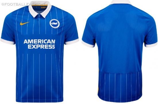 Brighton & Hove Albion 2020/21 Nike Home Football Kit, 2020-21 Soccer Jersey, 2020/21 Shirt