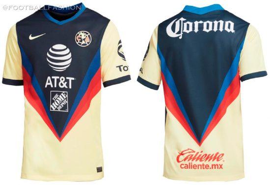 Club América 2020 2021 Nike Home Soccer Jersey, Shirt, 2020-21 Football Kit, Camiseta de Futbol 2020/21