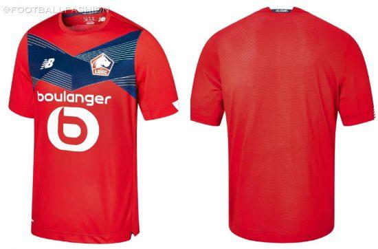 Lille OSC 2020 2021 New Balance Home Footballl Kit, 2020-21 Soccer Jersey, 2020/21 Shirt, Maillot