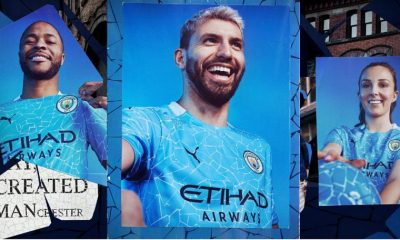 Manchester City FC 2020 2021 PUMA Home Football Kit, 2020-21 Shirt, 2020/21 Soccer Jersey, Maillot, Camiseta, Camisa, Trikot, Tenue