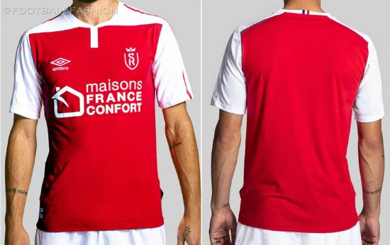 Stade de Reims 2020 2021 Umbro Home Football Kit, 2020-21 Shirt, 2020/21 Soccer Jersey, Maillot