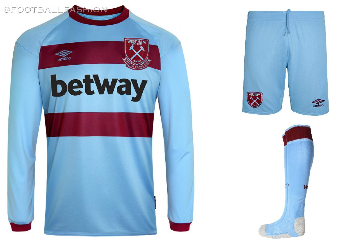 West Ham United 2020 2021 Umbro Blue Away Football Kit, 2020-21 Soccer Jersey, 2020/21 Shirt