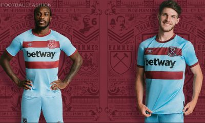 West Ham United 2020 2021 Umbro Blue Away Football Kit, 2020-21 Soccer Jersey, 2020/21 Shirt