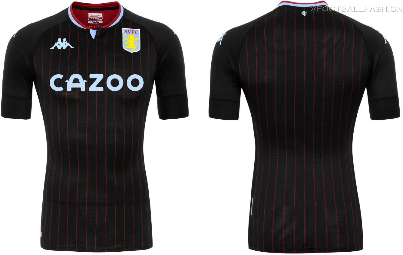 Aston Villa 2020 21 Kappa Away Jersey Football Fashion