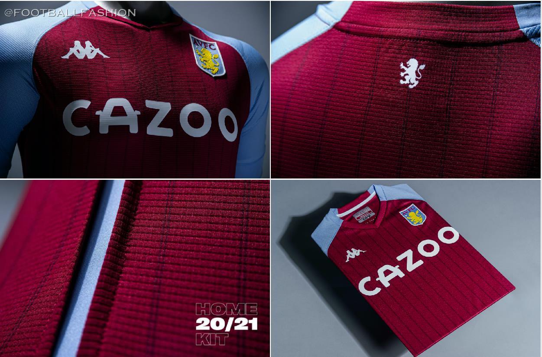 Aston Villa 2020 21 Kappa Home Kit Football Fashion