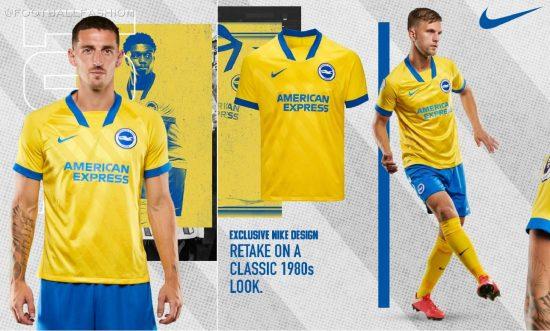 Brighton & Hove Albion 2020/21 Nike Away Football Kit, 2020-21 Soccer Jersey, 2020/21 Shirt