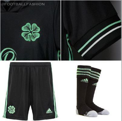 Celtic Football Club 2020 2021 Black adidas Third Kit, 2020/21 Soccer Jersey, 2020-21 Shirt