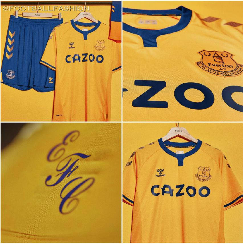Everton Fc 2020 21 Hummel Away Kit Football Fashion