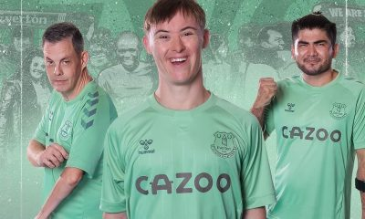 Everton FC 2020 2021 hummel Green Third Football Kit, 2020-21 Shirt, 2020/21 Soccer Jersey, Camisa, Camiseta, Trikot, Maillot
