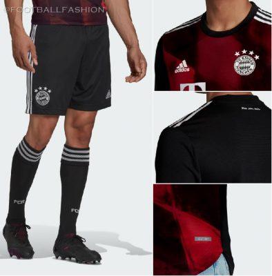 Bayern Munich 2020 2021 adidas Third Champions League Football Kit, 2020/21 Soccer Jersey, 2020-21 Shirt, Trikot, Maillot, Tenue, Camisa, Camiseta