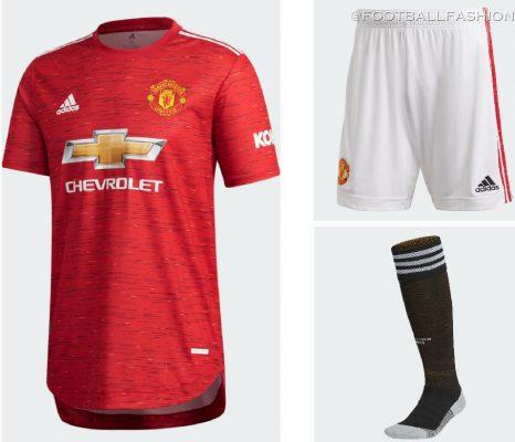 Manchester United 2020/21 adidas Home Football Kit, 2020-21 Soccer Jersey, 2020/21 Shirt, Camisa, Camiseta, Maillot, Trikot, Dres, Tenue, Maglia, Gara