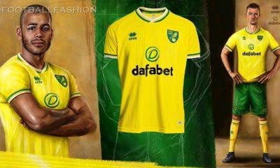 Norwich City 2020/21 Errea Home Kit, 2020-21 Football Shirt, 2020/21 Soccer Jersey