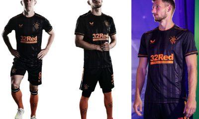 Rangers FC 2020 2021 Castore Third Football Kit, 2020-21 Soccer Jersey, 2020/21 Shirt