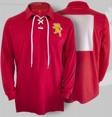 Spain Retro 100th Anniversary Football Kit, Soccer Jersey, Shirt, Camiseta conmemorativa del centenario, Selección Española, España