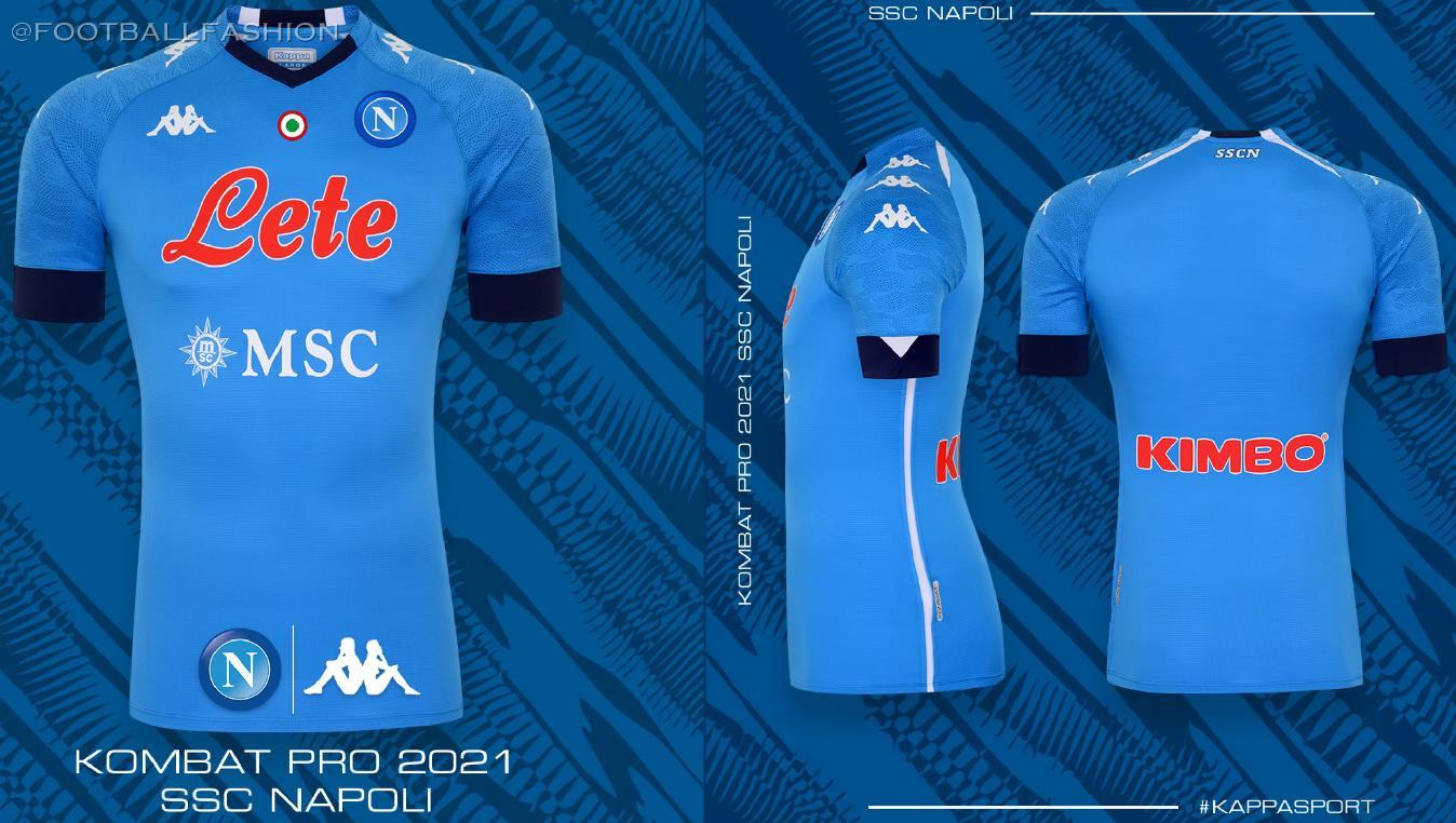 Ssc Napoli 2020 21 Kappa Home Away And Third Kits Football Fashion