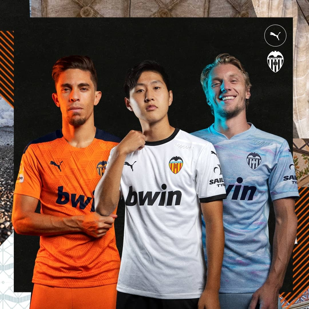 Valencia 2020 21 Puma Home Away And Third Kits Football Fashion Org