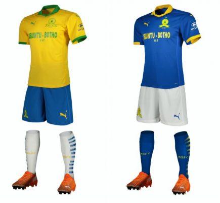 Mamelodi Sundowns 2020 2021 PUMA Home and Away Football Kit, 2020-21 Soccer Jersey, 2020/21 Shirt