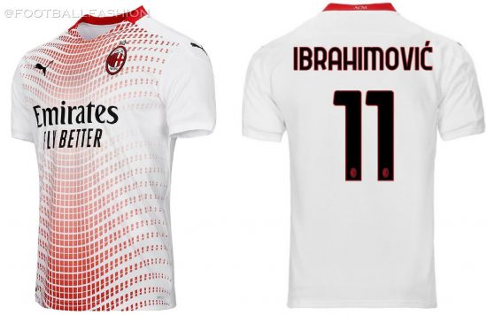 AC Milan 2020/21 PUMA Away Football Kit, 2020/21 Soccer Jersey, 2020-21 Shirt, Maglia, Gara, Camiseta, Camisa, Trikot