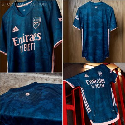 Arsenal FC 2020 2021 adidas Third Football Kit, 2020/21 Shirt, 2020-21 Soccer Jersey, Maillot, Camiseta, Camisa, Trikot, Tenue